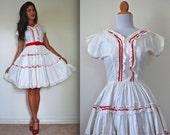 Vintage 50s Penny Candy Rockabilly Circle Dress