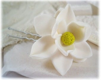 Magnolia Hair Clip Pin - More Colors Available