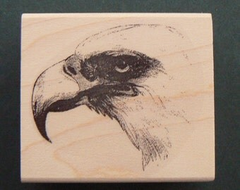 P29 Bald Eagle rubber stamp