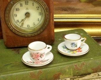 Vintage mini Limoges type tea cups set 2