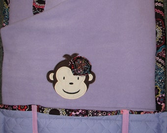 Mod Monkey Girl NAP MAT You Design It Choose Your Fabrics and Personalize It Perfect for Daycare, Mother's Day Out, Completely Hand Made
