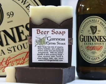 Guinness Beer Soap - Handmade with Guinness beer, looks like a mug of beer, for him, Irish, the Beer Lover, a great St Patrick's Day gift