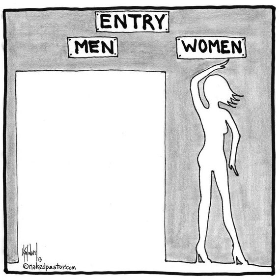 entry for men and women PRINT