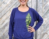 Womens Shirt - Hops - Scoop Neck Long Sleeve - Pullover - Beer