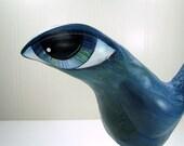 Art Sculpture Paper Mache - Veronica - A Big Eyed Bird