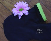 Smitten Hand-Holding Lovers Mitten - Black Blizzard Fleece with your choice of lining