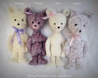 Babys First Bear - Heidi - 14in MOHAIR Artist Bear by Emmas Bears