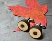 Rustic Maple Twig Wooden Cuff Links by Tanja Sova