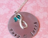 Hand Stamped Infinity Necklace
