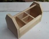 Handmade Kids Wooden Art Caddy - Large