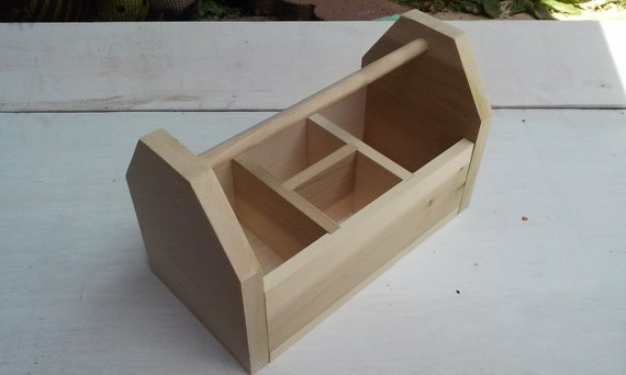 Handmade Kids Wooden Art Caddy - Large