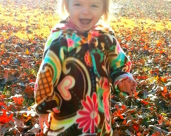 Fleece (Hoodie) Jacket Sewing Pattern in sizes 12 months-12 girls PDF Instant Whimsy Couture