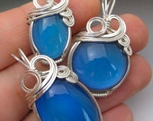 Mood Color-Changing Sterling Silver Wire Wrapped Pendant - 3 Sizes Available!