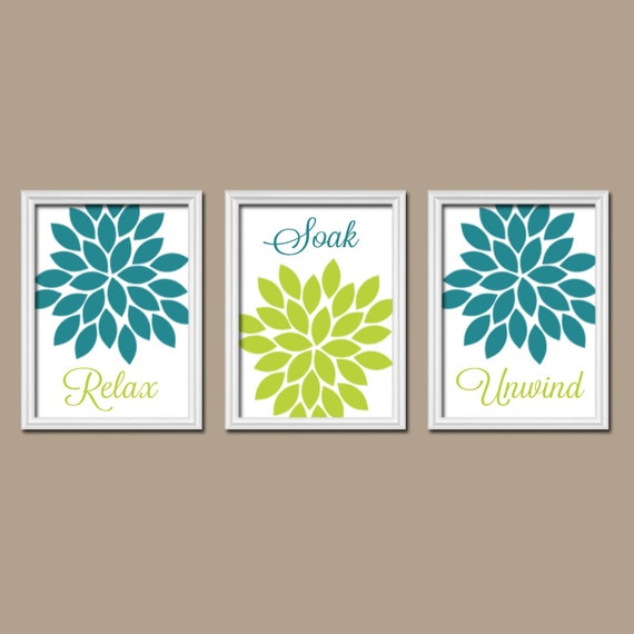 teal lime bathroom wall art canvas or prints bathroom by trmdesign. Black Bedroom Furniture Sets. Home Design Ideas