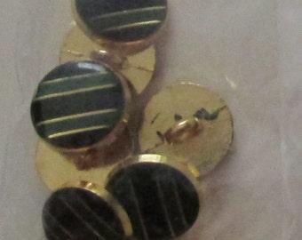green black design set buttons set  of 8 or 10