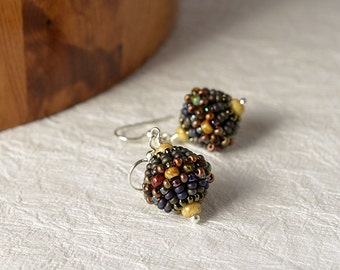 Beadwoven earrings