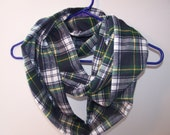 Infinity Scarf, Super Soft Plaid Flannel