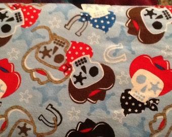 Sale COWBOY bandana horseshoe skull flannel lounge pants/pajama pants, shorts or capri children's size 3 6 9 12 18 24 2T 3T 4T 5 5T 6 6T 6X
