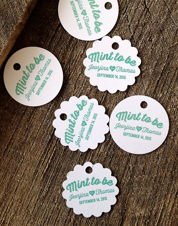 Round Wedding Gift Tags : Wedding Favor Tags - Round Thank you tags - Scalloped Wedding Gift ...