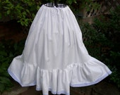 Girls White Cotton Petticoat /Pioneer,,Prairie .. Colonial /Made to Order ( full bottom)PLEASE see lead time inside of ad