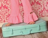 Pink Polka Dot KNIT Ruffle Pants