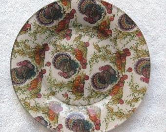 Designer Decoupage Plate Turkey