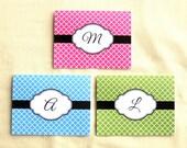 Monogrammed Note Cards - Set of 8 Quatrefoil Cards - Choose Colors