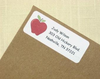 Apple  Address Labels - 90 Labels - Teacher Address Labels
