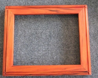 8x10 Spalted  Maple with Orange Dye Picture Frame-A