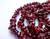 "Genuine Garnet Chip Semi Precious Gemstone Beads - 35"" Strand"