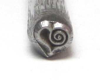 Romazone EXCLUSIVE Sassy Heart Spiral Steel Stamps