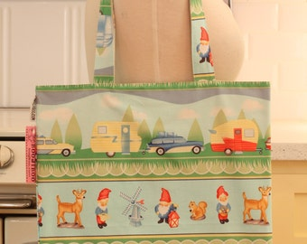 Book Bag Tote Purse - Travelling Gnomes