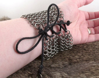 Chainmaille Stainless Steel Lace-Up Cuff