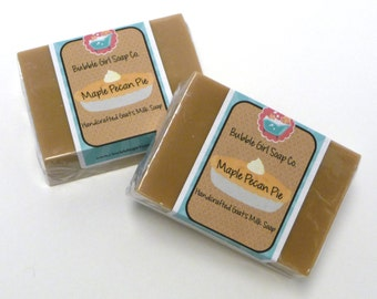 Maple Pecan Pie Limited Edition Goats Milk Soap Handmade GIANT Bar by Bubble Girl Soap