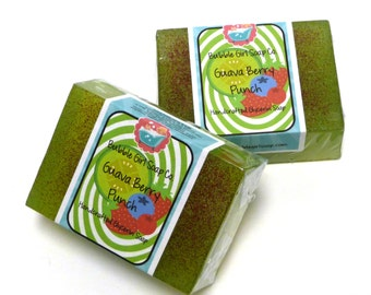 Guava Berry Punch Glycerin Soap GIANT Bar Handmade by Bubble Girl Soap Co.