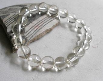 Quartz Rock Crystal Beads- 10mm Round Quartz Beads For Jewelry Making
