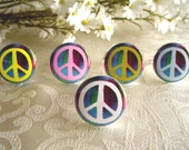 Peace Sign Adjustable Ring - Choose from 6 Colors