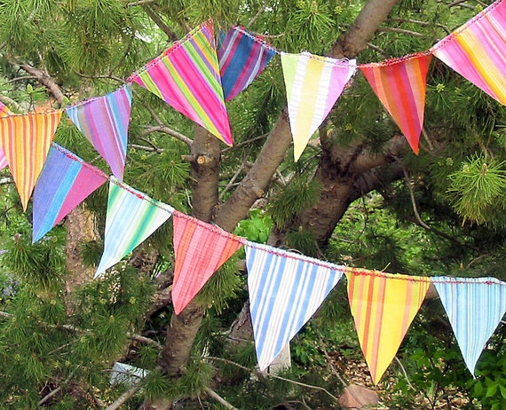 Nothin' But Stripes Celebration Flags Bunting Garland