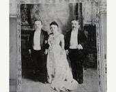 10% OFF TODAY Vintage 1930's B&W Photograph 1880's P T Barnum Circus Mrs. Tom Thumb , Col. Noah Orr, Retr