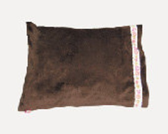 Monogrammed Travel Size Minky Pillowcase