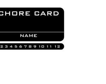 Chore Card stamp