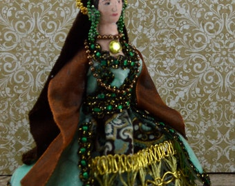 Anne Boleyn Doll Art Miniature Queen of England Tudor History