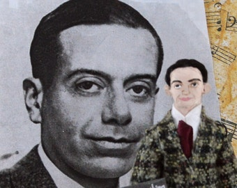 Cole Porter Doll Miniature Musical Writer HIstorical Musician