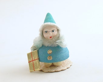 Vintage Christmas Decoration Gnome Elf