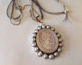 Mother of Pearl Cameo necklace