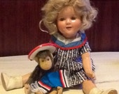 Shirley Temple Doll 16 Inches in great Vintage Condition just Beautiful Composition SALE!