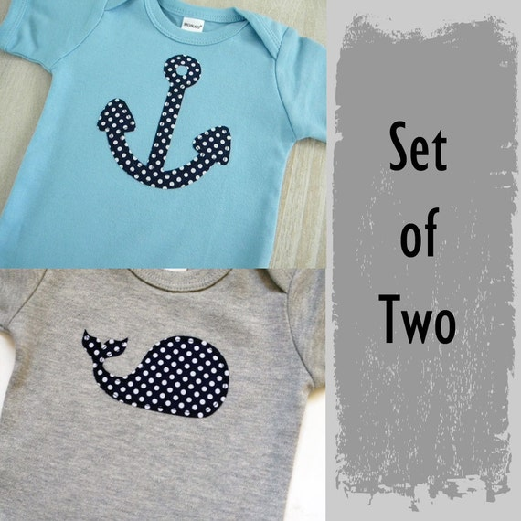 Nautical Baby Boy Clothes Navy Blue and Gray Boys Clothing