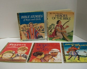 Set of Six Christian Children's books Stories from the Bible and Prayers