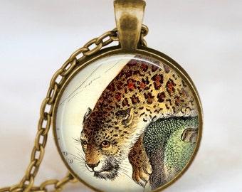 Leopard necklace, Leopard Jewelry, Leopard pendant  ,zoo animal necklace , jungle safari necklace, horse charm, handmade jewelry