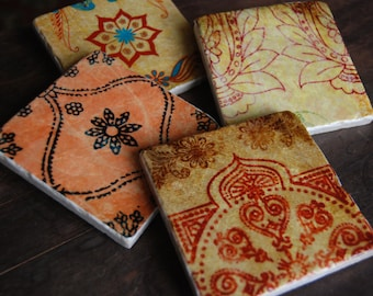 Coasters - Jewel of India coaster set